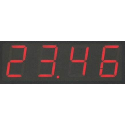 LED display with 4 digits