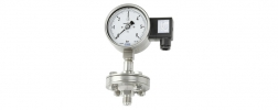 pressure gauge with diaphragm seal