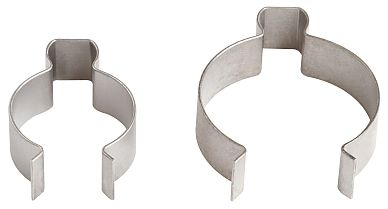 Quick-mounting clips for various pipe diameters