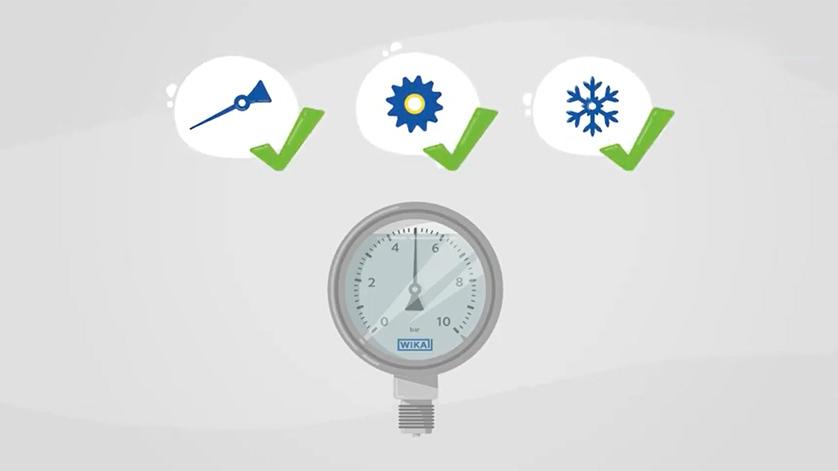 Pressure gauges with glycerin