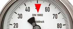 marker for DIN 16002 on pressure gauge