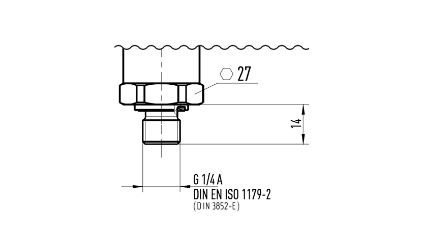DIN 3852-E pressure connection thread