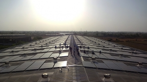 Solar panels at Micro Precision in India