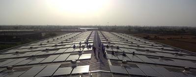 Solar panels at Micro Precision
