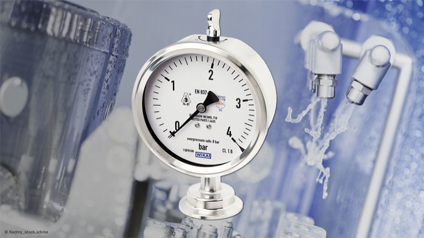 Hygienic pressure gauge: IP68 with cleaning from the outside